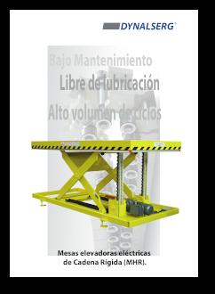 """Portada del Catálogo """"Mesas elevadoras de cadena rígida"""""""