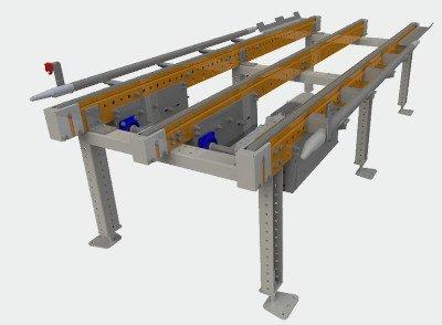 Transportador cadenas europaletas
